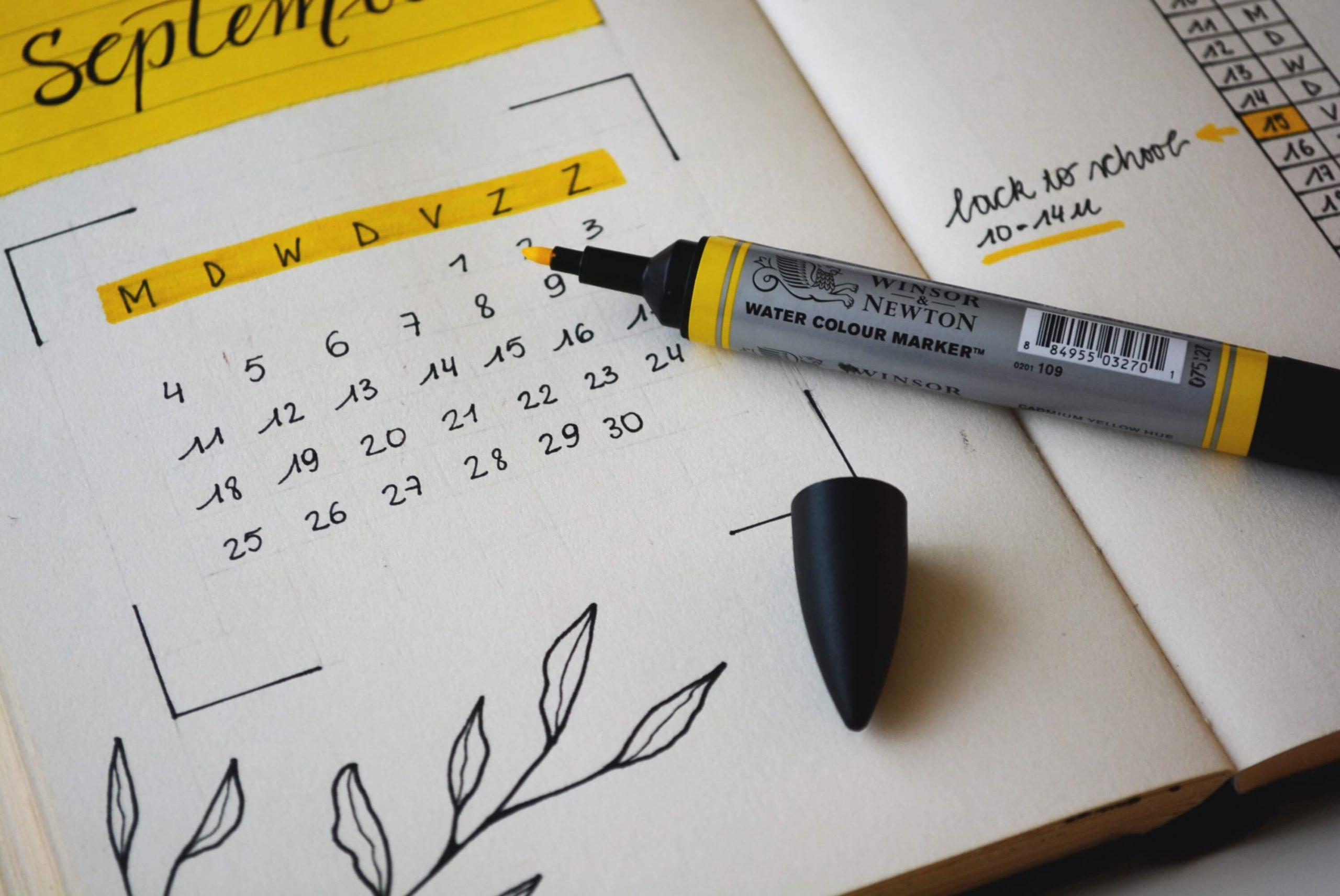calendario para tareas